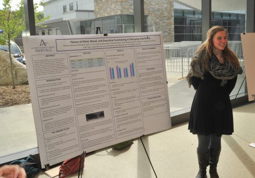 Student with poster at Undergraduate Research Day